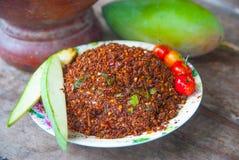 Thailändska Chili Salt Arkivfoto