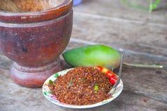 Thailändska Chili Salt Arkivfoton