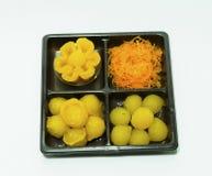 Thailändska dessets för blandning Arkivbilder