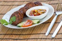 Thailändska fishcakes Royaltyfri Bild