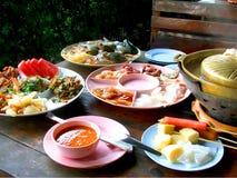 Thailändska Foods den kryddiga maten av Thailand Royaltyfri Fotografi