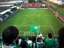 Thailändska fotbollsfan Royaltyfria Bilder