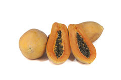 Thailändska frukter för Papaya arkivbilder