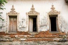 Thailändska hantverkfönster Arkivfoton