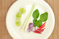 Thailändska ingredienser av den tom yumen Royaltyfria Foton