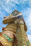Thailändska jätte- Yak Wat Pho från den berömda thailändska templet, Bangkok, Thailand Arkivbilder
