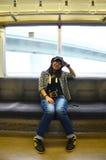 Thailändska kvinnor på det snabba drevet Arkivbilder