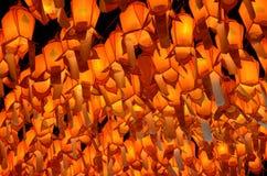 Thailändska Lanna lyktor. Beautifully av den Loy Krathong festivalen Royaltyfria Bilder