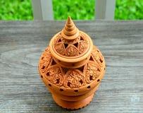 Thailändska lergods royaltyfri bild