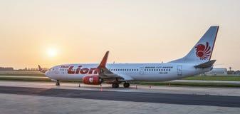 Thailändska Lion Air i Bangkok Royaltyfria Foton