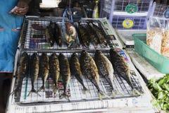 Thailändska marknadsprodukter och frukter mycket grönska Royaltyfri Fotografi