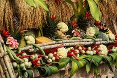 Thailändska matgrönsaker och frukter Arkivfoton
