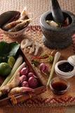 Thailändska matlagningingredienser royaltyfria bilder