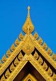 Thailändska modellbuddistväggmålningar Arkivfoto