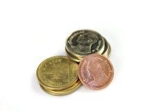 Thailändska mynt Arkivfoto