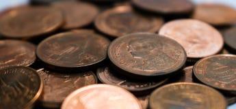 Thailändska mynt, bad och Thailand Royaltyfria Foton