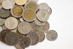 Thailändska mynt för baht Royaltyfria Bilder