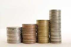 Thailändska mynt för baht Arkivfoton
