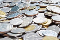 Thailändska myntpengar för att handla utbyte Fotografering för Bildbyråer