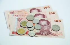 Thailändska pengar (bahten) fotografering för bildbyråer