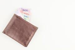 Thailändska pengar och plånbok Royaltyfria Bilder