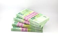 Thailändska pengar på vit bakgrund Royaltyfria Bilder