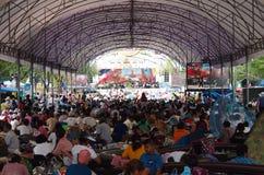 Thailändska personer som protesterar för PDRC Arkivbild