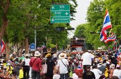 Thailändska personer som protesterar för PDRC Royaltyfri Foto