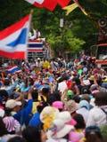 Thailändska personer som protesterar för PDRC Arkivfoto