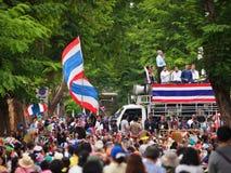 Thailändska personer som protesterar för PDRC Arkivbilder