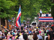 Thailändska personer som protesterar för PDRC Royaltyfri Fotografi