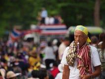 Thailändska personer som protesterar för PDRC Royaltyfria Foton