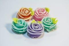 Thailändska sötsaker gjorde från naturprodukter är en thailändsk kultur royaltyfria bilder