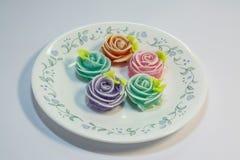 Thailändska sötsaker gjorde från naturprodukter är en thailändsk kultur arkivfoton