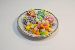 Thailändska sötsaker gjorde från naturprodukter är en thailändsk kultur fotografering för bildbyråer