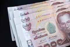 Thailändska sedlar Arkivfoto