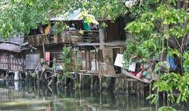 Thailändska slumkvarter Arkivbild