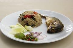 Thailändska stekte ris Royaltyfri Fotografi