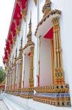 Thailändska stilkyrkafönster Royaltyfria Foton