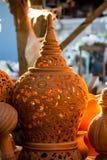 Thailändska stillergods på Ko Kret i det Nonthaburi landskapet, Thailand Arkivfoto