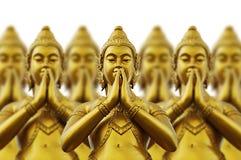 Thailändska stilstatyer Arkivfoto