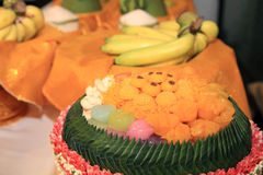 Thailändska thailändska sötsaker eller Khanom Royaltyfri Fotografi