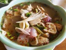 Thailändska Tom Yum Soup Arkivfoto
