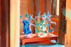 Thailändska traditionella dansarediagram Arkivfoton