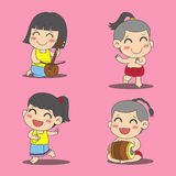 Thailändska ungar royaltyfri illustrationer