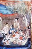 Thailändska vägg- målningar Royaltyfri Fotografi