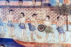 Thailändska vägg- målningar Royaltyfria Foton