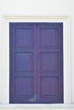 Thailändskt blått klassiskt fönster Royaltyfria Foton