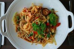 Thailändskt block Kee Mao för matstilspagetti, royaltyfri foto