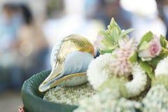 Thailändskt brölloptema Arkivbild